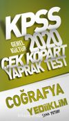 2020 KPSS Genel Kültür Coğrafya Çek Kopart Yaprak Test