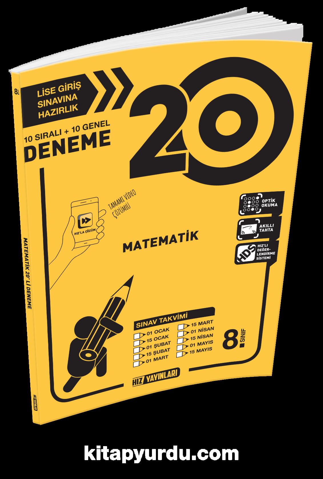 8. Sınıf Matematik 20 Deneme - Kollektif pdf epub