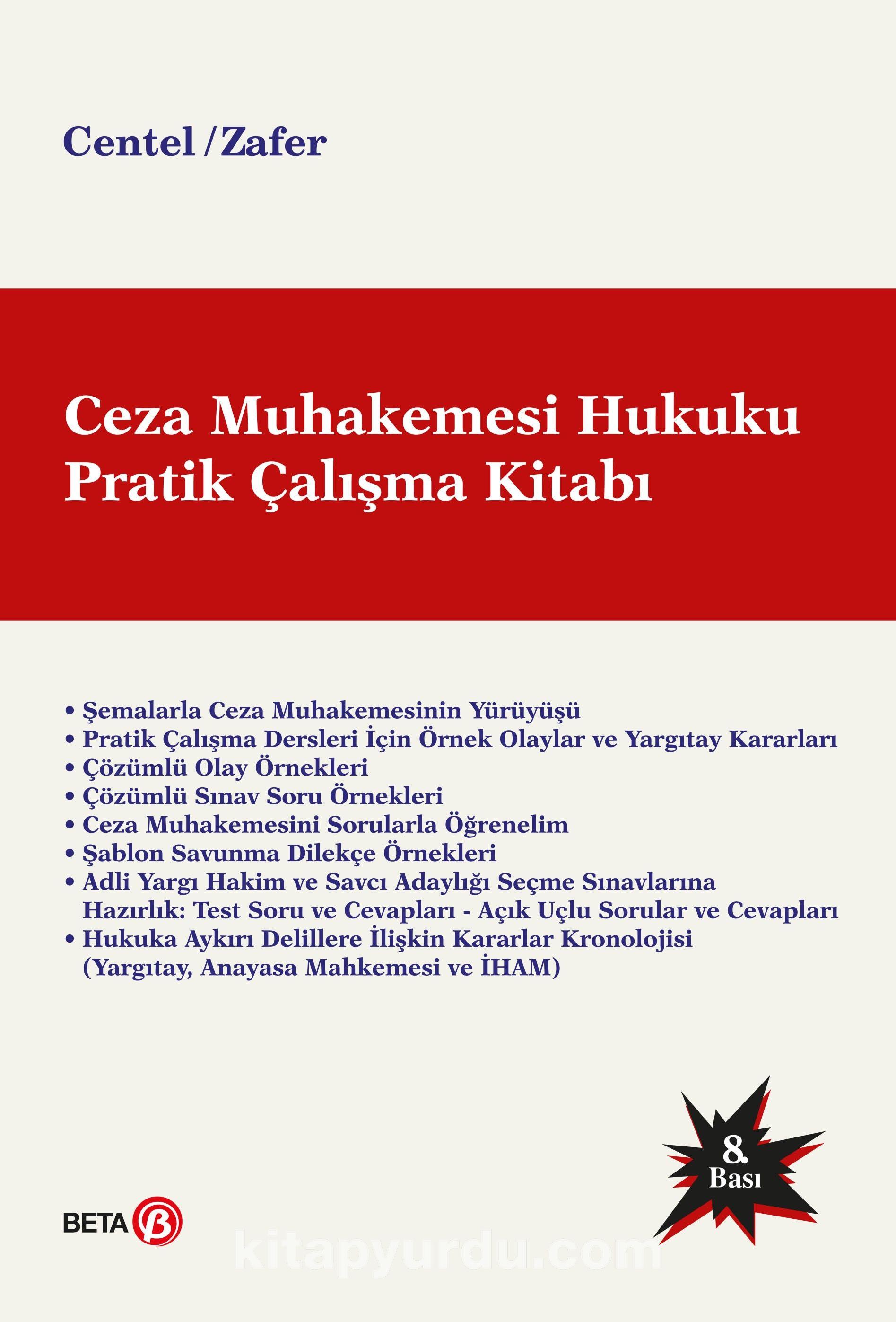 Ceza Muhakemesi Hukuku Pratik Çalışma Kitabı - Prof. Dr. Hamide Zafer pdf epub