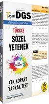 DGS Türkçe Sözel Yetenek Çek Kopart Yaprak Test