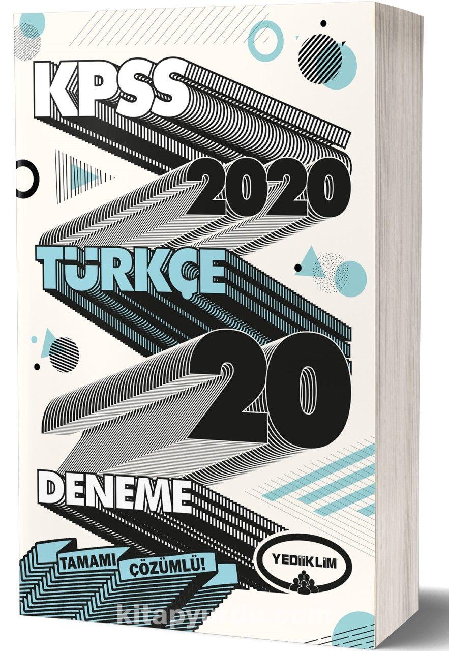 2020 KPSS Genel Yetenek Türkçe Tamamı Çözümlü 20 Deneme PDF Kitap İndir