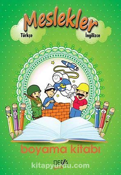 Meslekler Boyama Kitabi Turkce Ingilizce Kitapyurdu Com