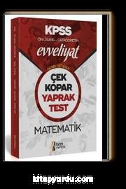 2020 Evveliyat KPSS Genel Yetenek Ortaöğretim Ön Lisans Matematik Çek Kopar Yaprak Test