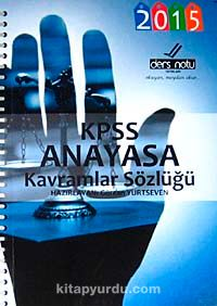 2015 KPSS Anayasa Kavramlar Sözlüğü (cep boy)
