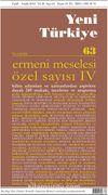 Yeni Türkiye Sayı:63 Eylül-Aralık 2014 Ermeni Meselesi Özel Sayısı 4
