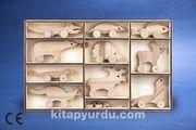 Montessori Ahşap Zeka Oyunları / w-Animal Kingdom