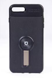 Telefon Kılıfı - Apple iPhone 7 Plus-8 Plus  - Mat Siyah - Dore Ayaklı (TMS-012)